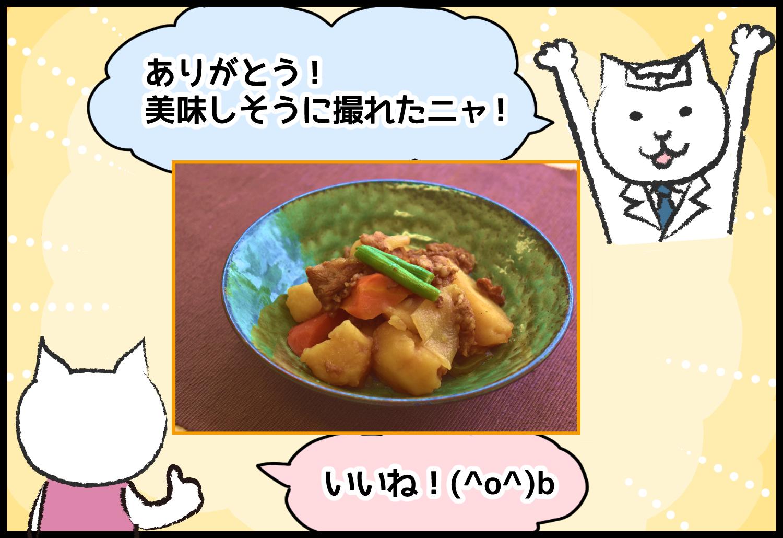 ありがとう!美味しそうに撮れたニャ! いいね!(^o^)b