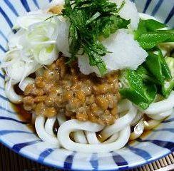 おろし納豆うどんでさっぱり✨<br /> #ヤマキめんつゆ #ヤマキレシピ