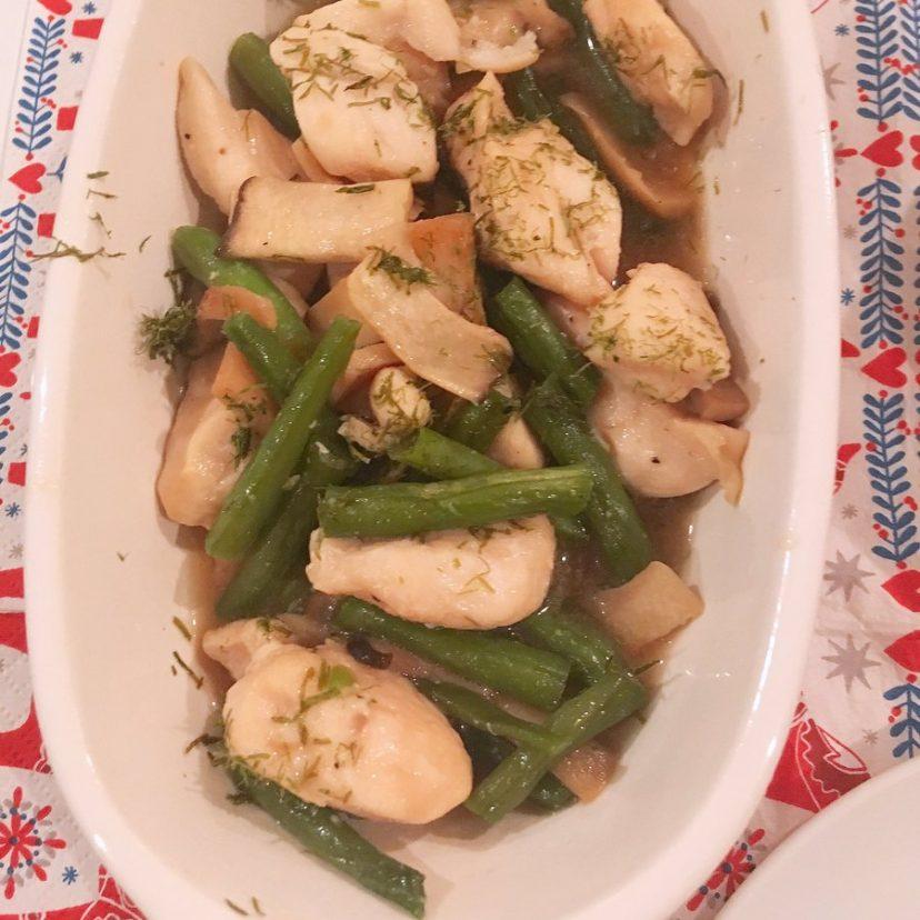 ヤマキ割烹白だしを使った「インゲンとエリンギと鶏肉のささみ」?ヤマキ割烹白だしの風味が最高!<br /> #ヤマキ割烹白だし<br /> #ヤマキレシピ