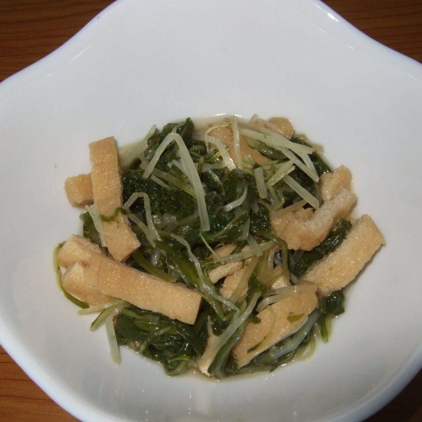 #ヤマキめんつゆ #ヤマキレシピ  水菜と油揚げをめんつゆで煮ました。