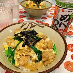 ヤマキのめんつゆで<br /> 親子丼作ったよ〜♫ ・<br /> ・<br /> <br /> #タンパク質レシピ #ヤマキレシピ