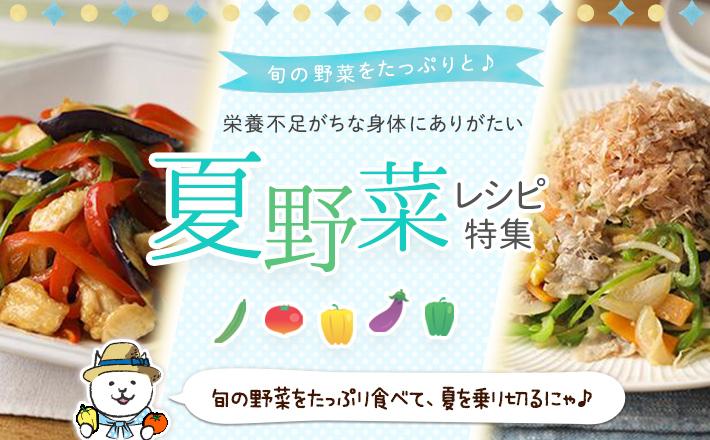 旬の野菜をたっぷりと♪栄養不足がちな身体にありがたい夏野菜レシピ特集!