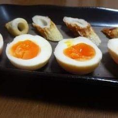 #タンパク質レシピ<br /> #ヤマキレシピ <br /> ヤマキめんつゆで煮卵を作って燻製に!