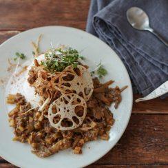 根菜の和風キーマカレー