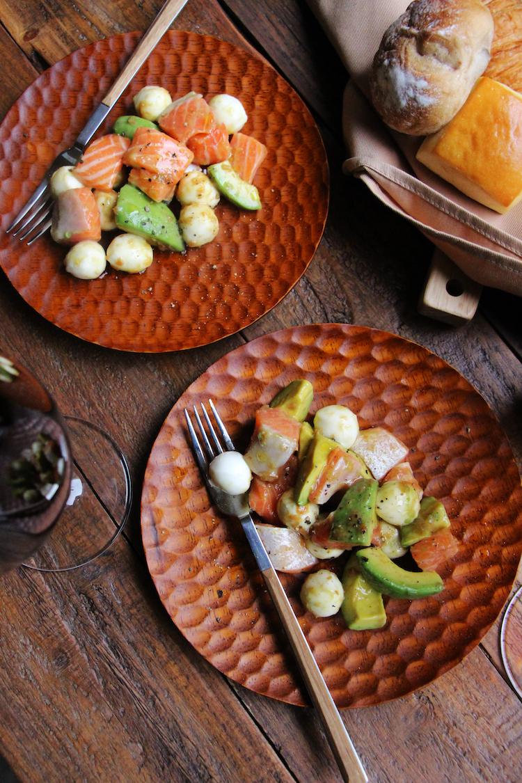 サーモンとチーズの梅マリネ