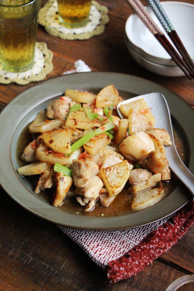 鶏と大根の塩とろみ炒め