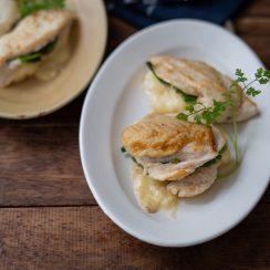 鶏むね肉の和風ほうれん草チーズサンド