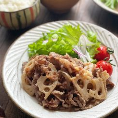 ご飯がすすむ!牛肉とれんこんのおかかしぐれ煮